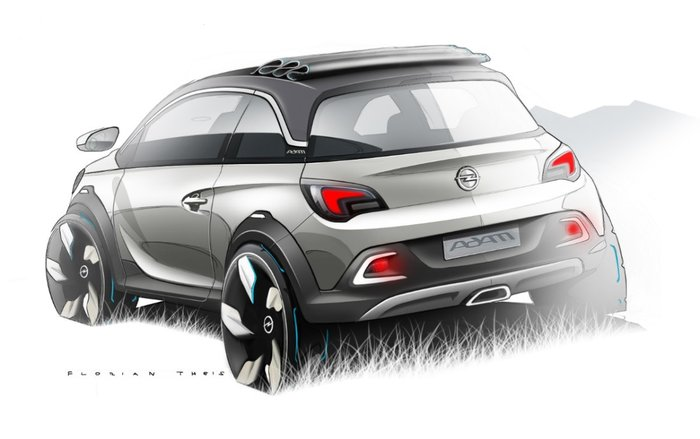 esquisse : Opel Adam Rocks Concept