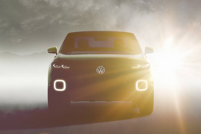 face avant teaser : Volkswagen concept SUV compact