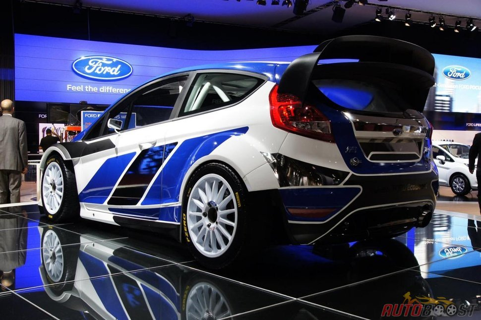 photo ford fiesta wrc salon auto paris 2010. Black Bedroom Furniture Sets. Home Design Ideas