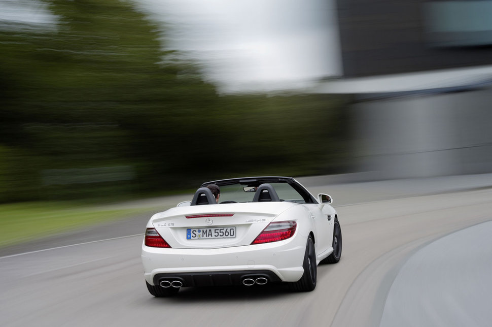photo mercedes slk 55 amg 4 sorties d 39 echappement. Black Bedroom Furniture Sets. Home Design Ideas
