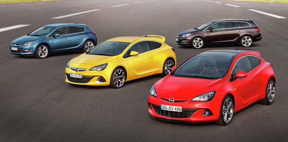 Photo Officiel : gamme Opel Astra restylée