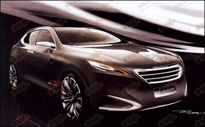 Peugeot Crossover Concept croquis