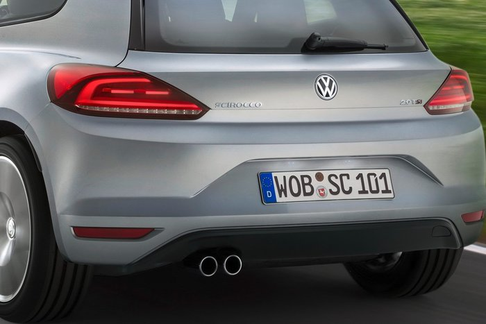 Restylage : Volkswagen Scirocco son arrière