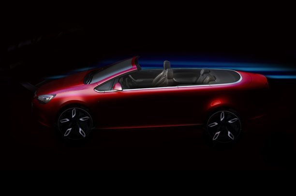 Photo Teaser officiel future Opel Astra Cabriolet